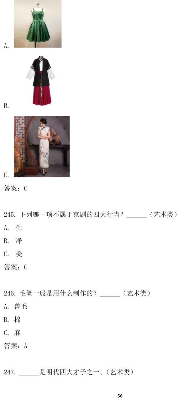 """第十二届""""汉语桥""""世界中学生中文比赛笔试试题集-56.jpg"""