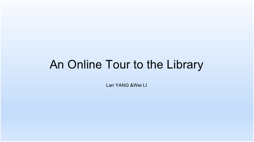 On-line visit on school's library